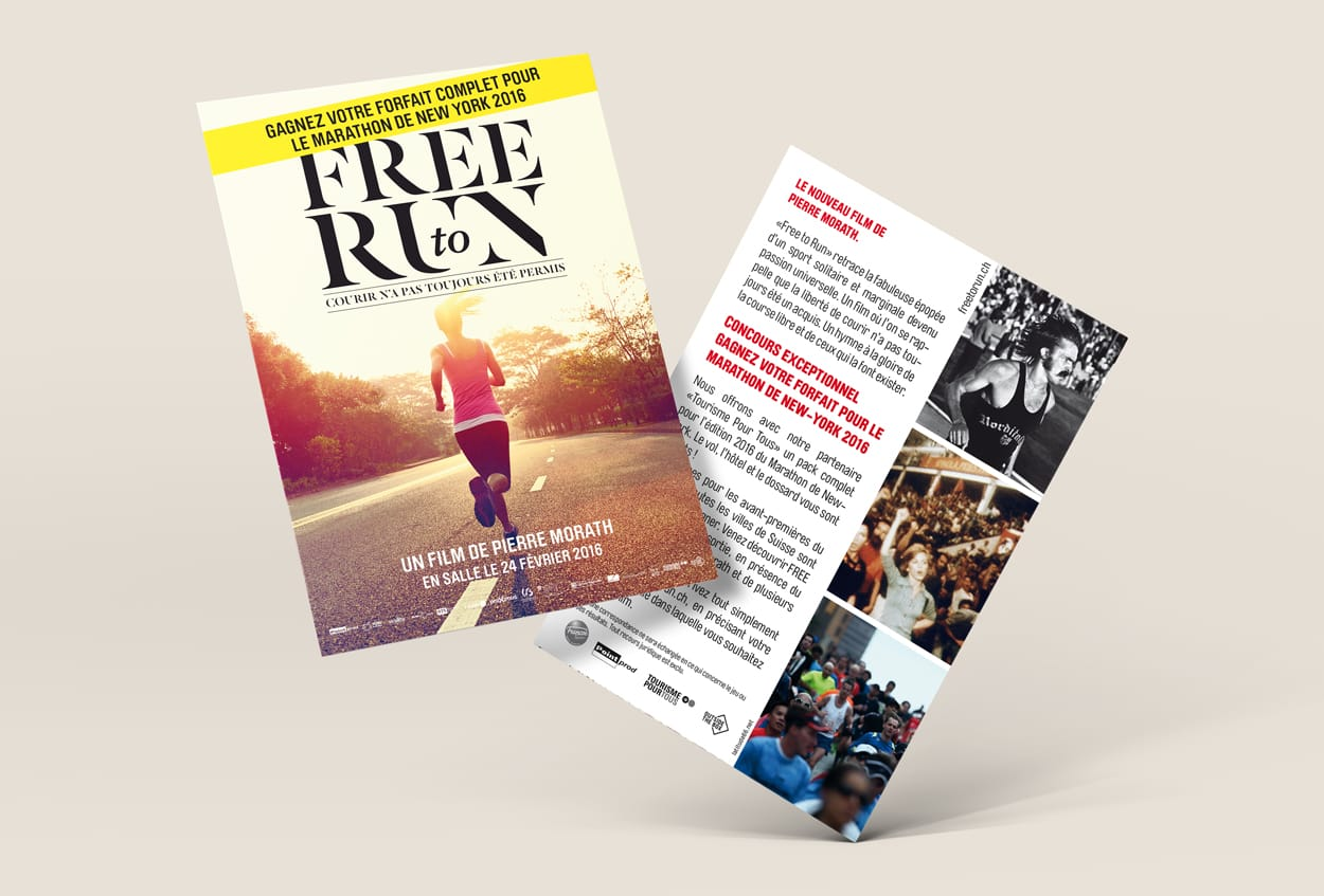 Free to run, Pierre Morath, box production, swissposters