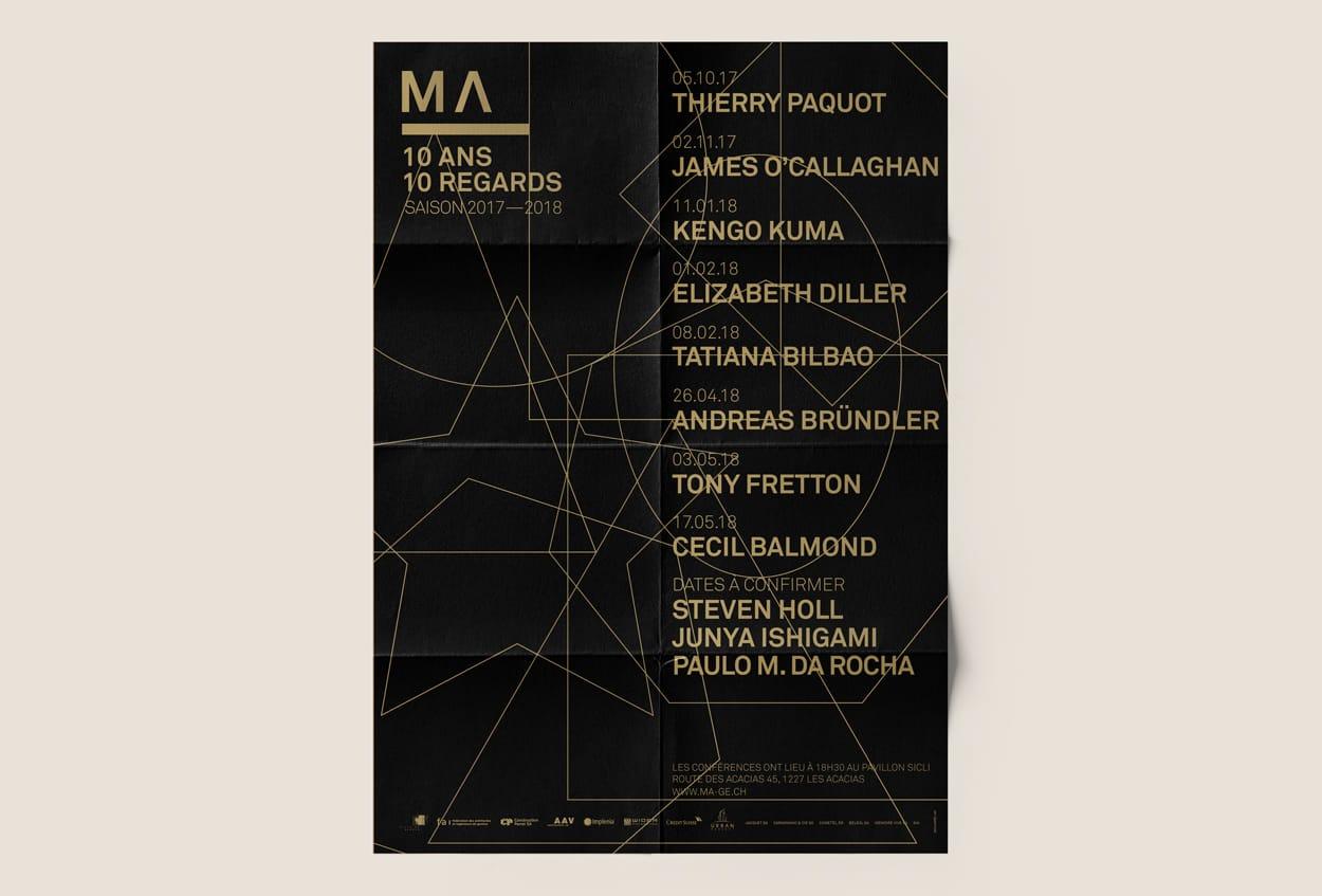 MAISON DE L'ARCHITECTURE Genève, architecture, swiss poster
