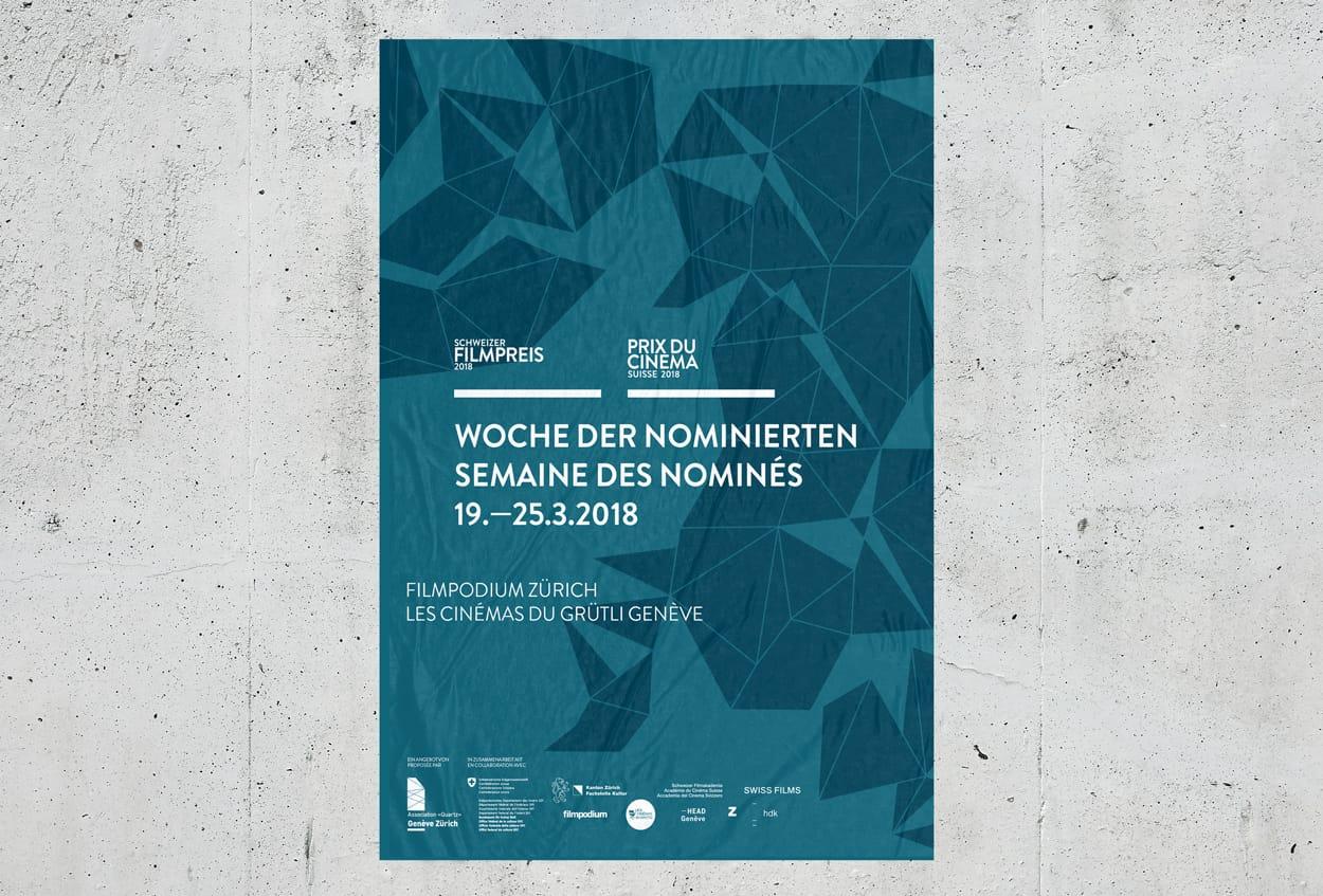 Prix du Cinéma Suisse 2018. Schweizer Filmpreis 2018